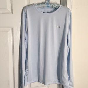 NWOT Light Blue Under Armour Long Sleeve Shirt